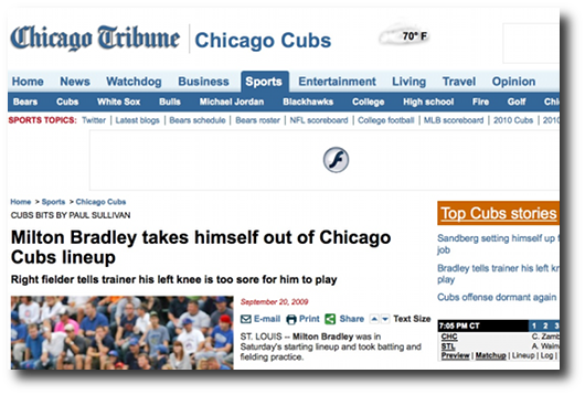 The Chicago Tribune Sports section