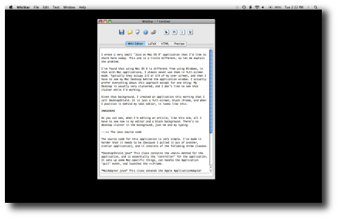 My Java on Mac OS X DesktopShield application (small image)
