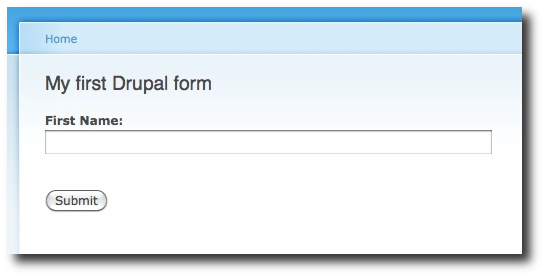 A simple Drupal form example - My first Drupal form