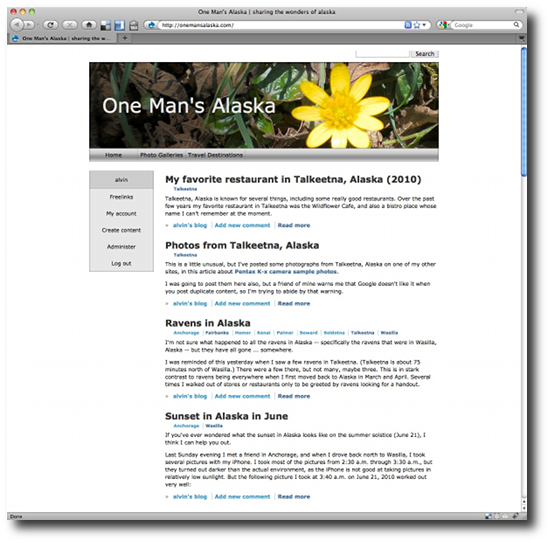 Clean Drupal themes - Forest Floor