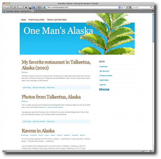 Clean Drupal themes - Fresh media