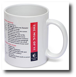 Geek gift ideas for under $10 2009 - vi coffee mug