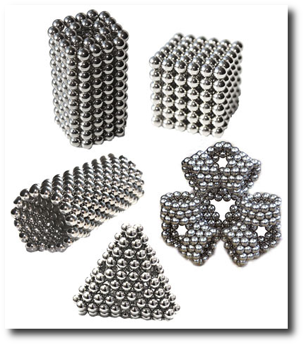 Geek gifts 2009 - shapes you can make with BuckyBalls