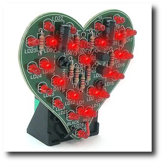 Valentines Day geek gifts ideas - LED heart