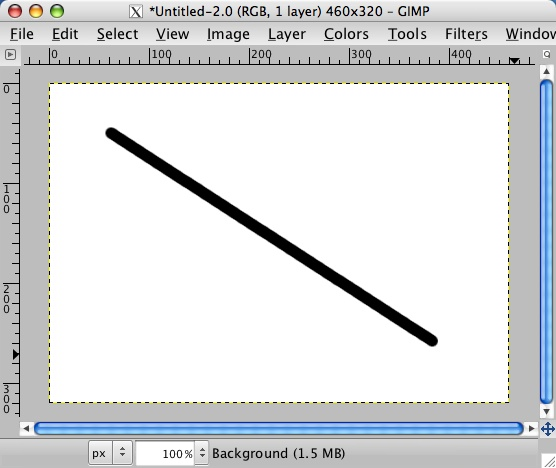 Line Drawing Gimp : How to draw a straight line in gimp alvinalexander