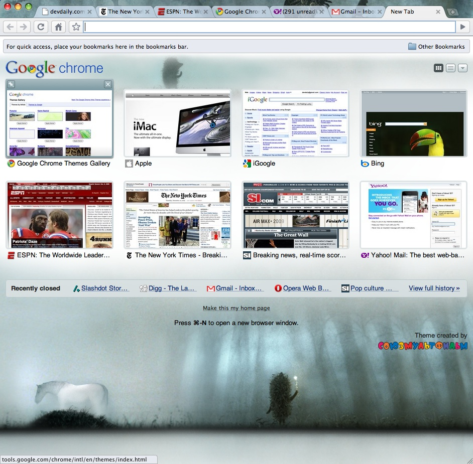 Google Chrome for Mac OS X - a review | alvinalexander com