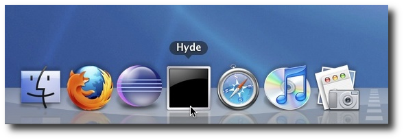 Hide your Desktop and Desktop Icons with Hyde