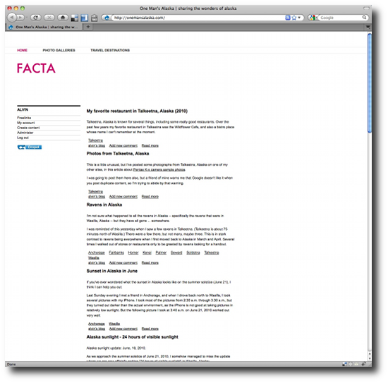 Clean Drupal themes - Id Facta