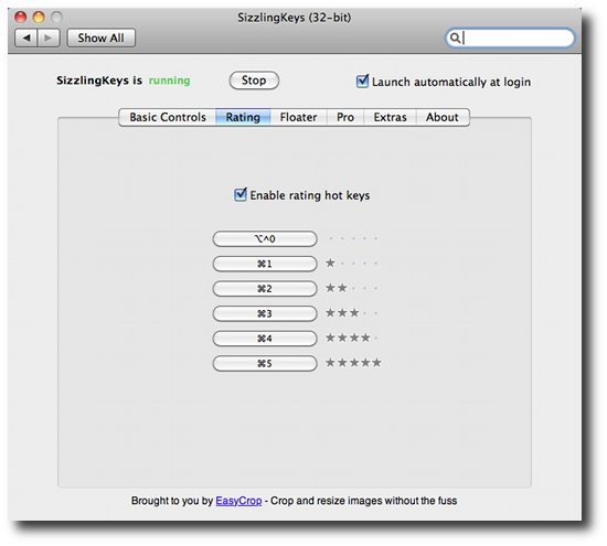 iTunes keyboard control - SK rating panel