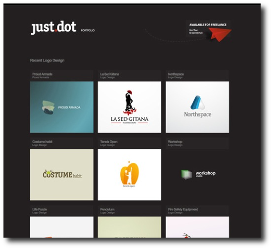 just dot - Clean, minimalist website design