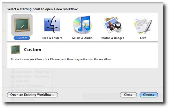 A Mac Automator custom workflow or application