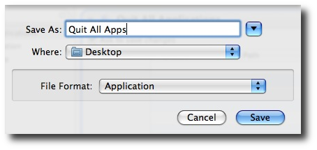 Saving your new Mac Automator application