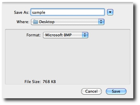 Mac - Convert BMP image to JPEG, PNG, GIF, TIFF, or PDF