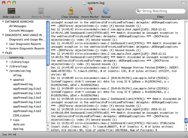 mac os php error log
