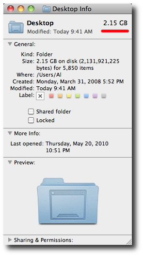 Mac folder size - Step 3, Folder Size