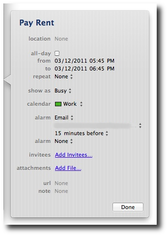 Schedule Mac tasks with the Mac iCal GUI