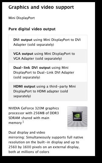 MacBook Air external monitor connectors | alvinalexander com
