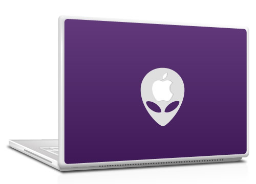 MacBook skin - alien art/design