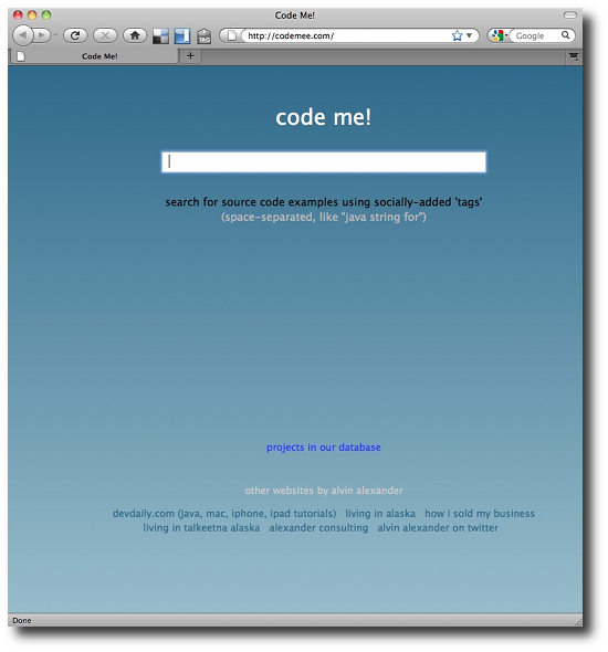 CodeMee.com, a socially tagged source code search engine