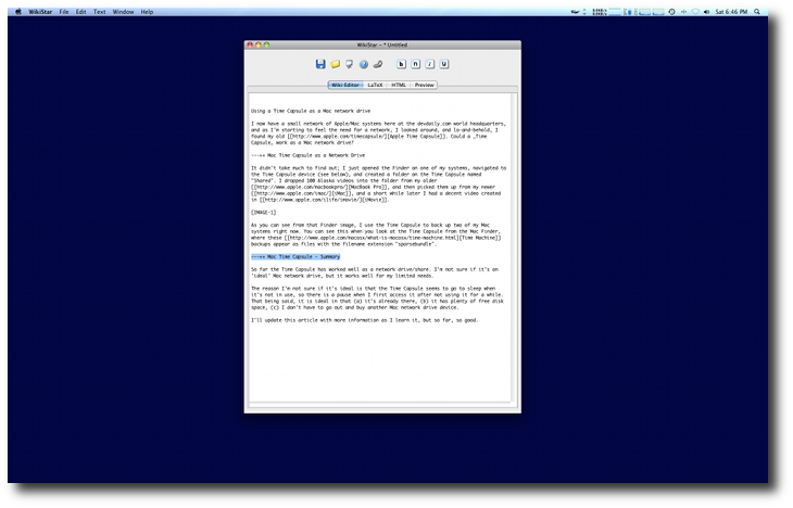 The same text editor with a Desktop Curtain background.
