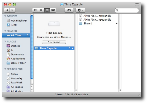 Apple Time Capsule as a Mac network drive/share
